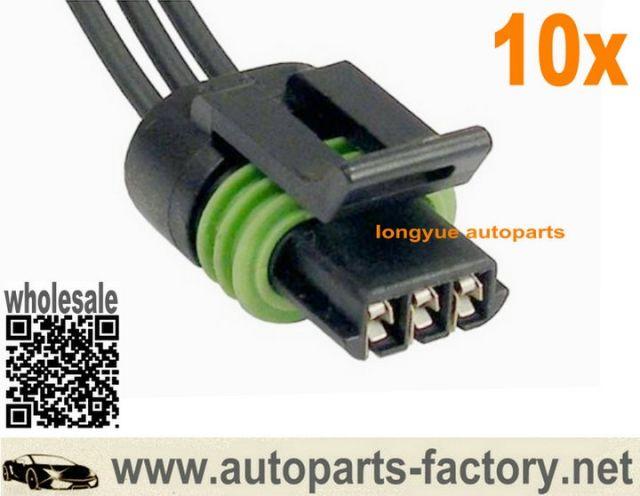 Longyue 10pcs 3 Pin Crankshaft Coolant Temp Sensor Connector Pigtail 2001 Dodge Ram 1500 8 2001 Dodge Ram 1500 Dodge Ram 1500 Ram 1500