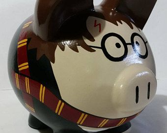 Piggy Bank, Personalized Piggy Bank, Large Piggy Bank, Harry Potter Piggy Bank, - (Unofficial) - MADE TO ORDER