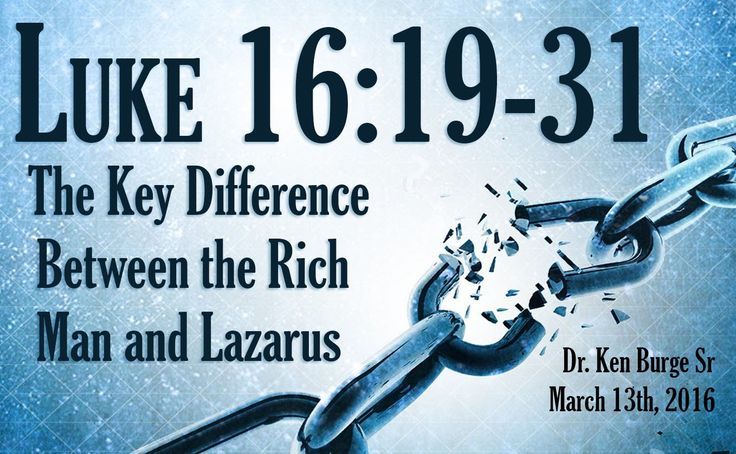 The Key Difference Between the Rich Man and Lazarus - Luke 16:19-31