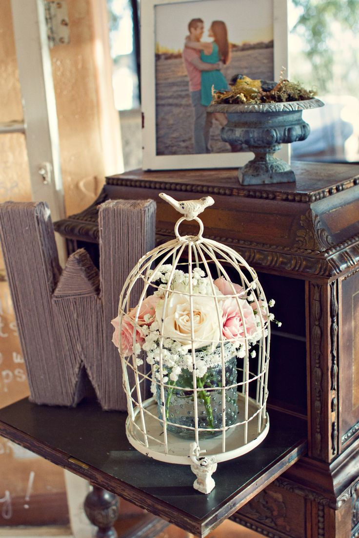 Best birdcages with flowers images on pinterest