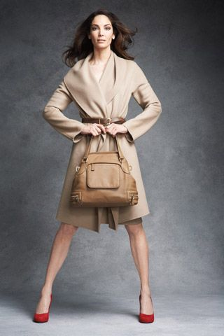 love tablots new fall 2010 collection, camel coat with red stilletos