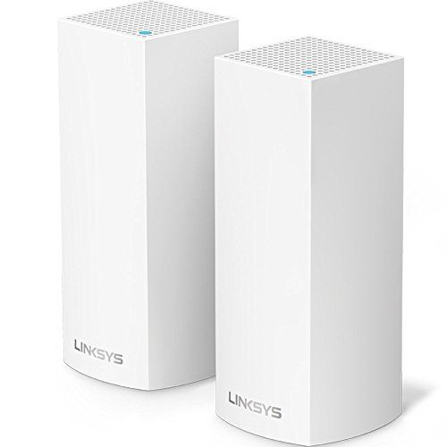 Linksys Velop Tri-band Whole Home WiFi Mesh System, 3-Pack (coverage up to 6000 sq. ft), Router Replacement for Home Network, Works with Amazon Alexa WHW0303 (Certified Refurbished) (3-Pack) - Linksys Velop is the is the Tri-Band Wi-Fi system that works in perfect harmony to create a high-range mesh network . Unlike traditional routers with range extenders, Velop's Tri-Band Wi-Fi system is connection points that provide 100% Internet speed throughout your home. By utilizing wireless me...