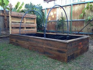 pallet raised garden bed pallet ideas