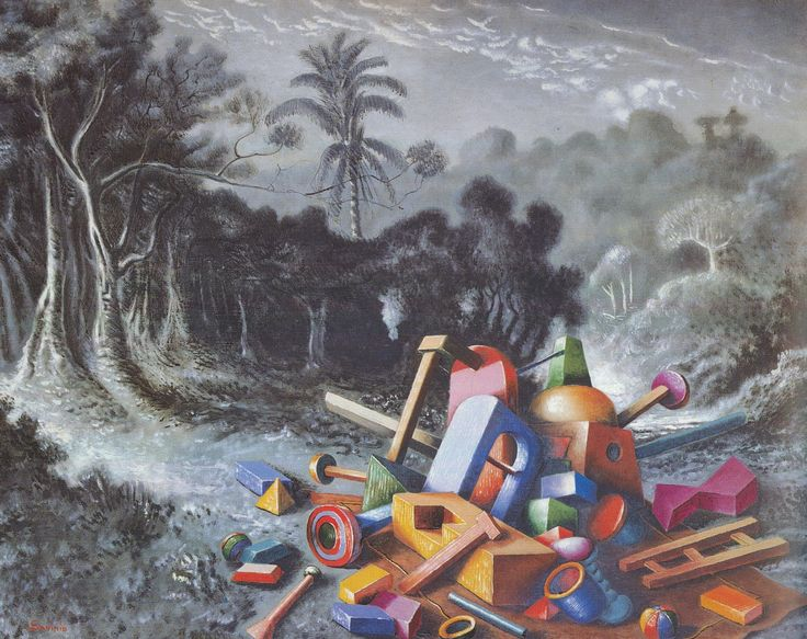Alberto Savinio, Objects in the forest 1928