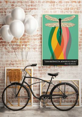 poster 50 x 70 cm einen drachen reiten zitat von rose ausl nder sch nes f r die wand. Black Bedroom Furniture Sets. Home Design Ideas