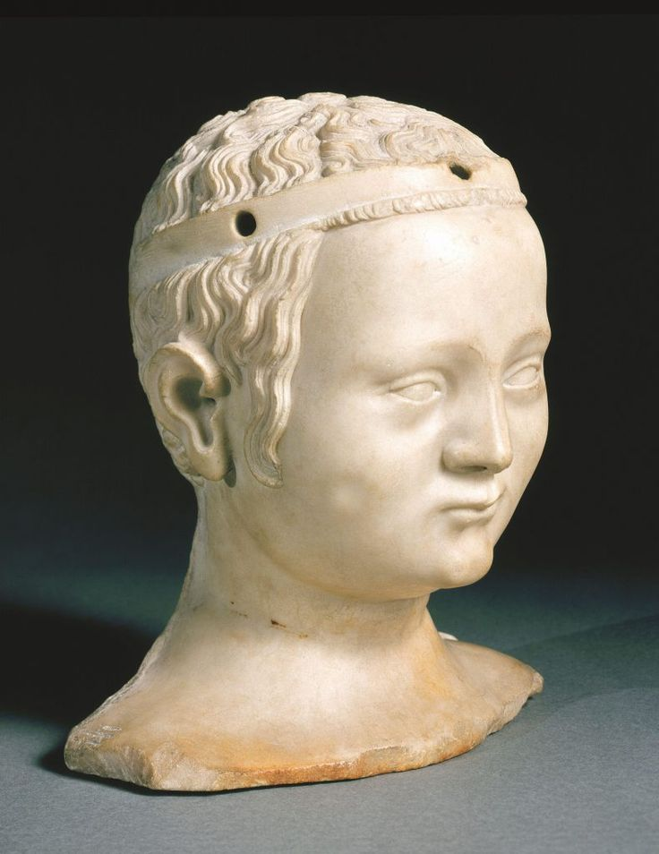 Kopf der Bonne de France, Großnichte Karls IV. Marmorskulptur Jean de Liège, Paris, 1365. (Bild: Museum Mayer van den Bergh/fkn)