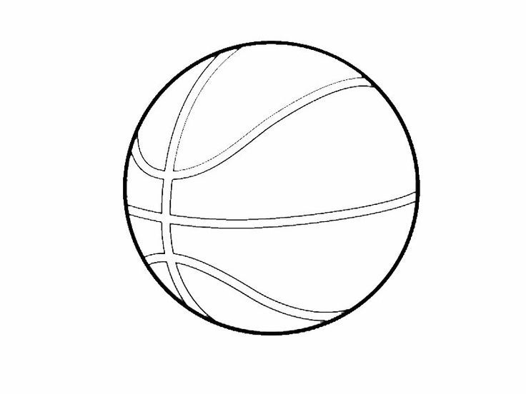 Balón de baloncesto. Dibujo para colorear con los niños