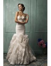 Herz-neck Meerjungfrau Ausgefallenes Hochzeitskleid aus Organza Lorenza