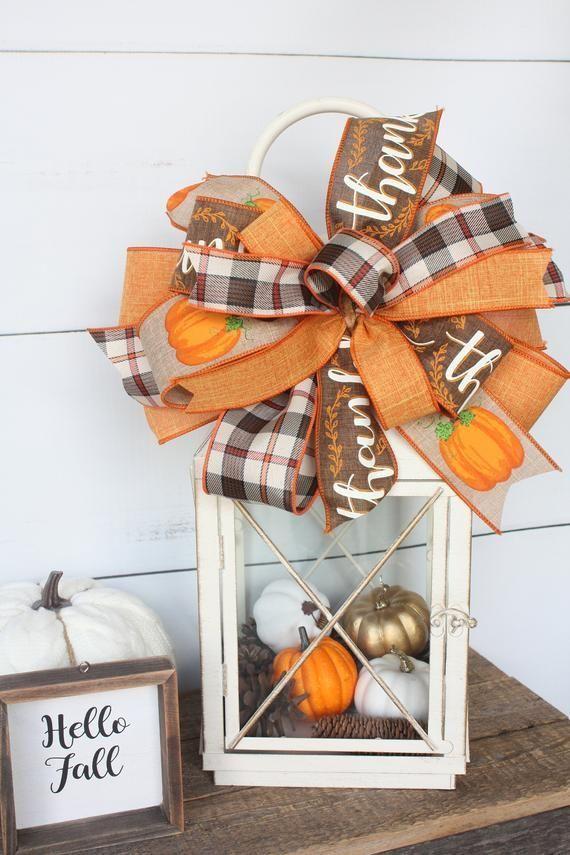 Fall Wreath Bow Or Lantern Bow Free Shipping Etsy In 2019 Fall