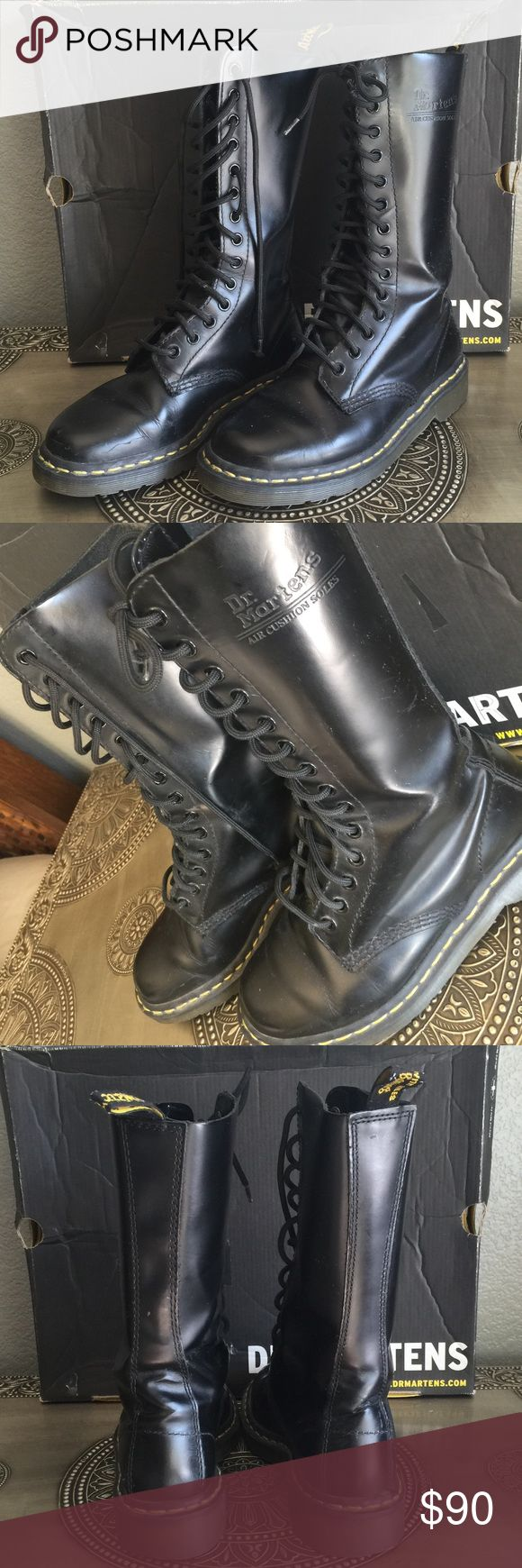 Dr Martin Boots Size 7 / good condition/ comes in box Dr. Martens Shoes Combat & Moto Boots