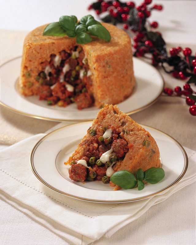 Sartu' di riso / Baked rice dish just watched rachael ray make this. Looked amazing!