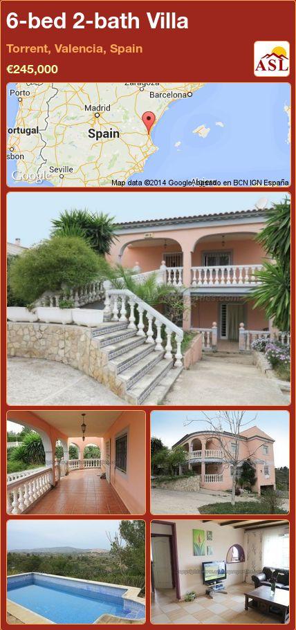 6-bed 2-bath Villa in Torrent, Valencia, Spain ►€245,000 #PropertyForSaleInSpain