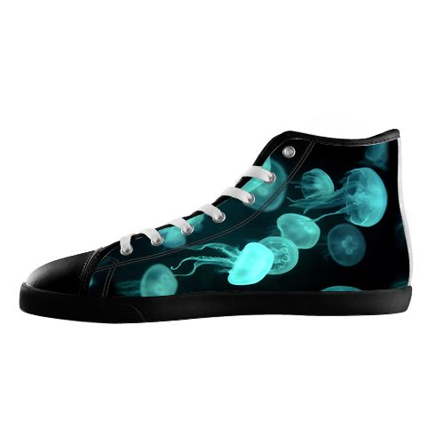 Jellyfish Blue Shoes - Available Here: http://www.customdropshipping.com/personalized-design/personalized/jellyfish-blue-black-high-top-canvas-shoes-model002-women-47255