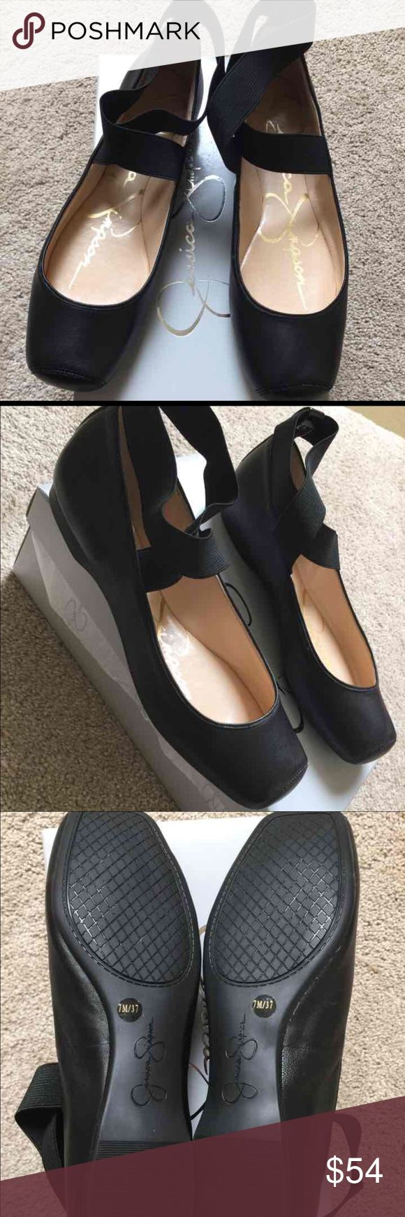 Jessica Simpson Ballet Flats Black Size 7 Super cute, brand new, never worn. Just tried on. Size 7/37. They look just like ballet slippers. Comes with original box. Paid 69 plus tax Jessica Simpson Shoes Flats & Loafers