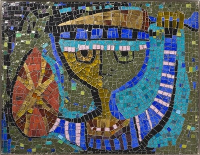 Young Warrior, glass-tile mosaic, Evelyn Ackerman, 1955: Mid Century Mosaics, Mosaics Art, Ackerman Mosaics, Marvel Mosaics, Young Warriors, Ackerman Mid Century, Mosaics Inspiration, Midcentury, Evelyn Ackerman
