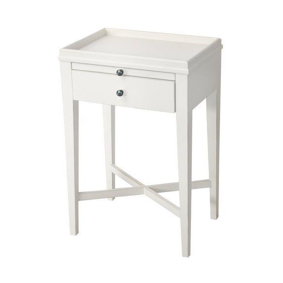 French Farmhouse White Side Table - Vavoom Emporium