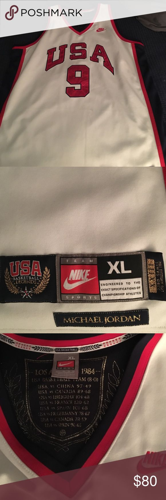 Micheal Jordan #9  1984 Olympic Games jersey Nike Michael Jordan Olympic games jersey Authentic size XL Nike Other