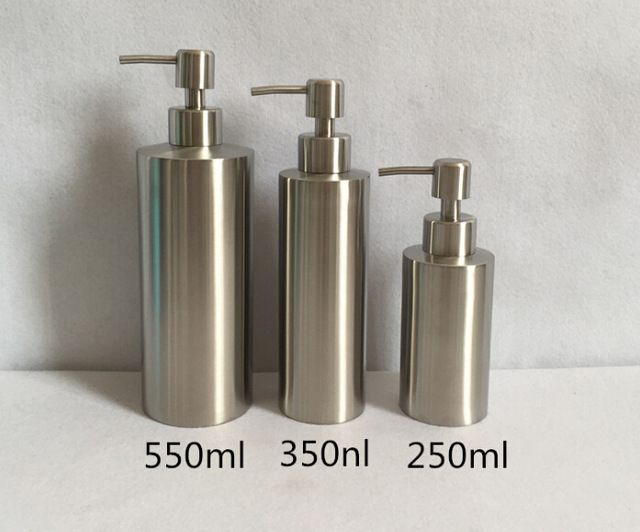 Exceptional High Quality Stainless Steel Liquid Soap Dispenser Hand Sanitizer Bottle  For Bathroom Kitchen Countertop Bathroom