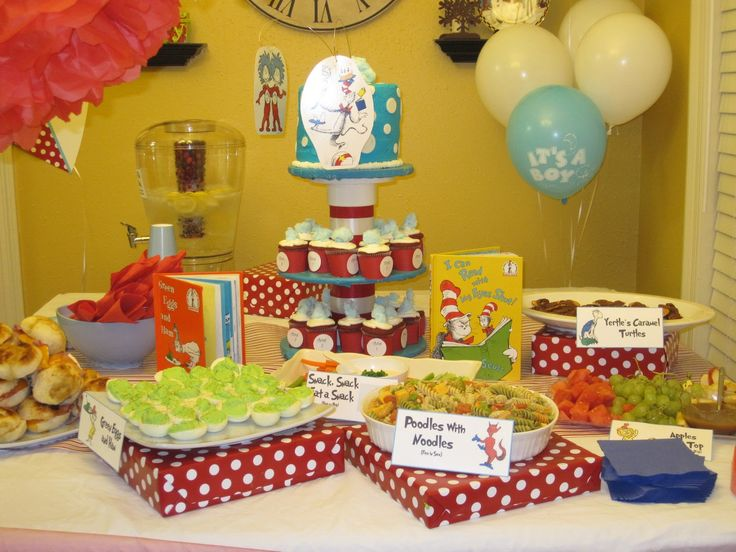 Dr seuss baby shower ideas confetti and other fun dr for Baby shower decoration ideas for twins