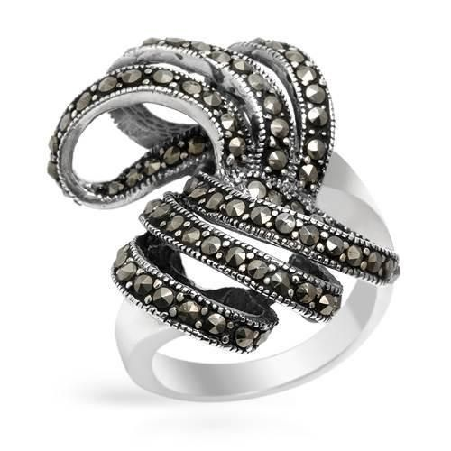 Ring With Genuine  Marcasites - Size 7