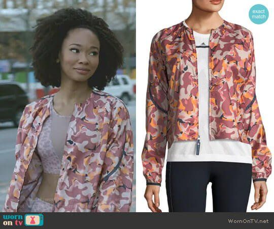 Monica's pink camo jacket on Dynasty. Outfit Details: https://wornontv.net/91137/ #Dynasty