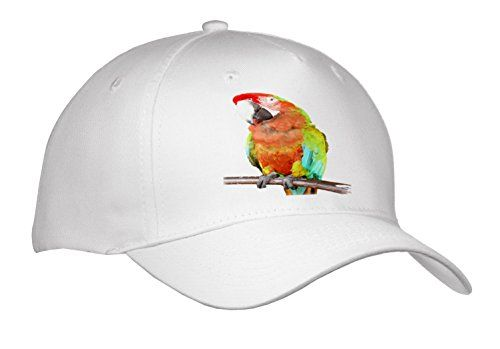 Vector Style Harlequin Macaw On A Perch Cap is a custom printed image affixed to a commercial quality 100% preshrunk cotton twill. Whether you are just kicking back or a real sportsman this hat is perfect for any lifestyle. The adult cap features a Velcro closure and the youth cap features a snap closure. Both sizes are adjustable.