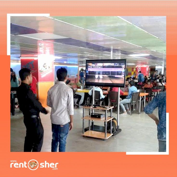 RentSher helped Aegis BPO Gurgaon office to celebrate their employees get together by providing complete Game zone set up like TT Table, Fuse Ball Tables, 5 seater sofa with Center table, bean bags, 7 seater sofa with center table, magazine stands, food trolleys, PS4, X-boxes and LED Tv's. you can contact with RentSher on www.rentsher.com