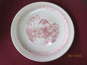 Crown Lynn - Canton Bridge Dinner Plate 30130