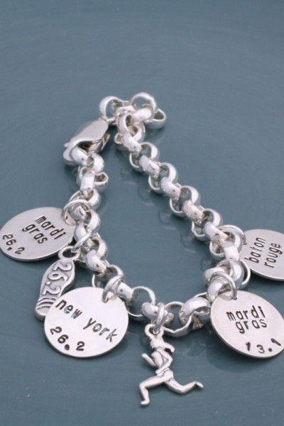Runner's Brag Charm Bracelet