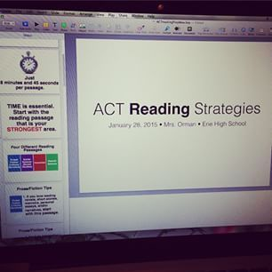 Free: ACT Reading Strategies presentation