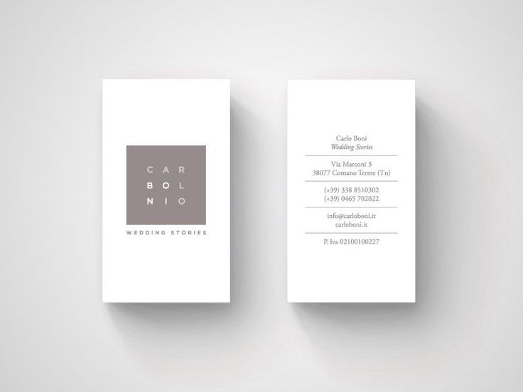 20 Minimalistic Business Card Designs For You To See