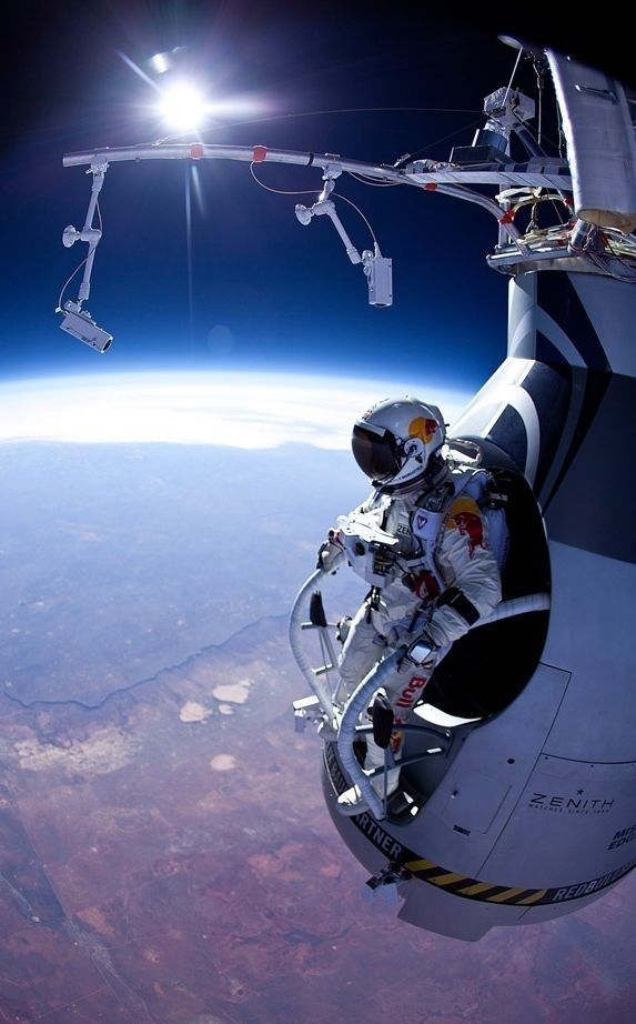 Felix Baumgartner will jump 120,000ft - less than 40 miles from SPACE