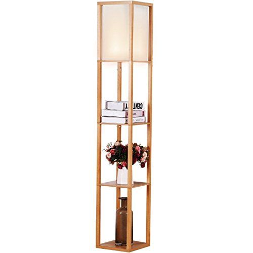 Brightech - Maxwell Shelf Floor Lamp - Modern Mood Lighti...