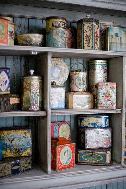 pretty vintage tins