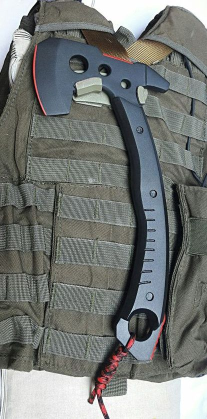 Tomahawk Axe and molle mount by JAY DESIGN