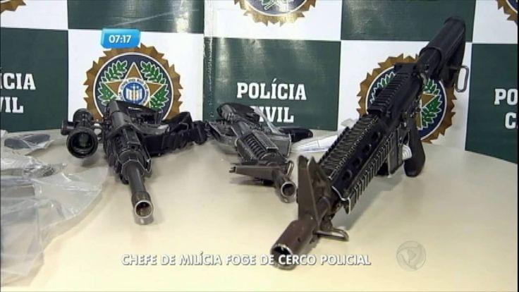 Chefe de milícia foge de cerco policial no Rio de Janeiro