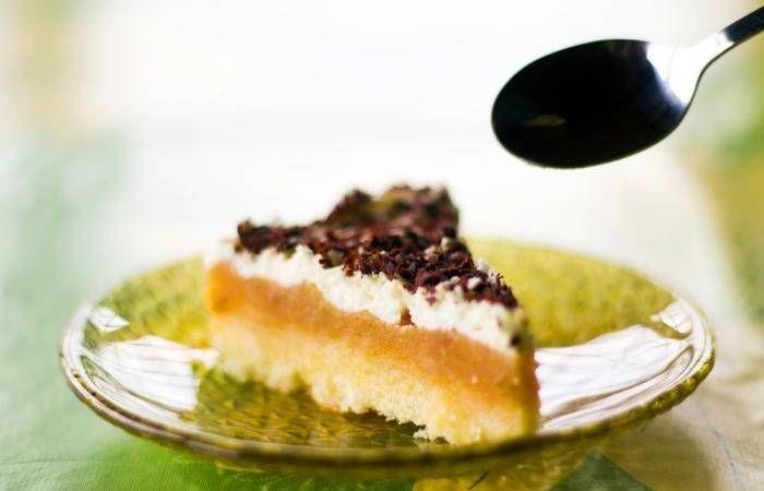 Ciasto piastowskie - szarlotka ze śmietaną