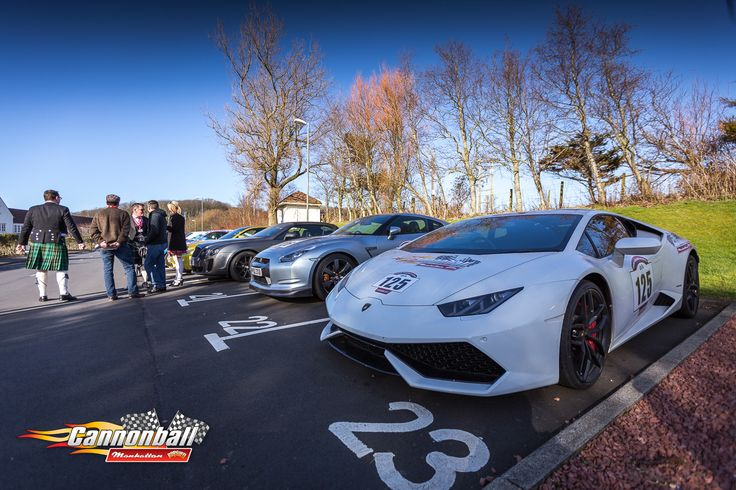 White Lamborghini - on the Grand Scottish Highland Trip - supercars