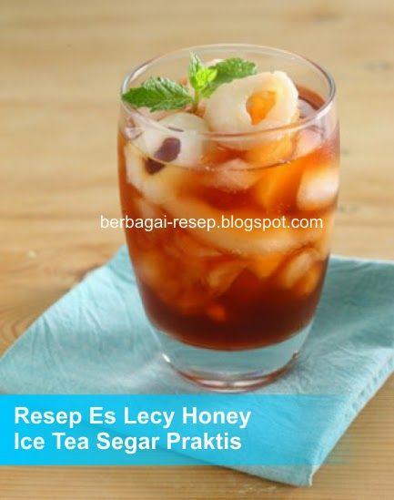 Es Leci Honey Ice Tea Segar