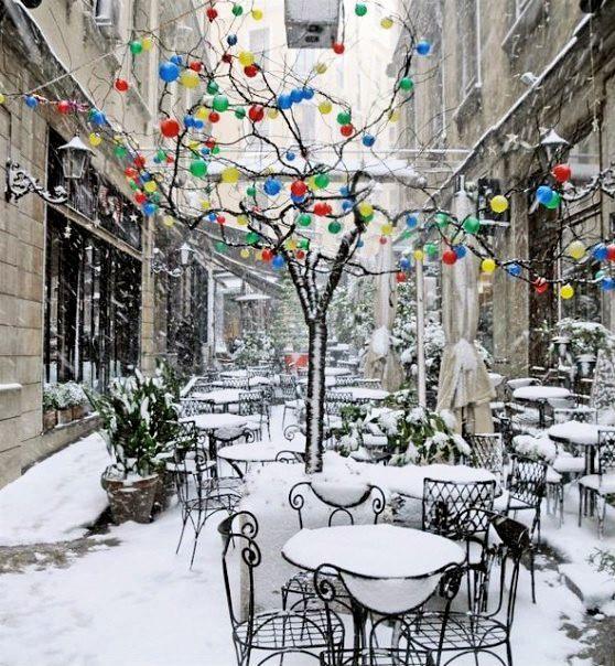 Beyoğlu (Taksim) Streets in winter, İstanbul