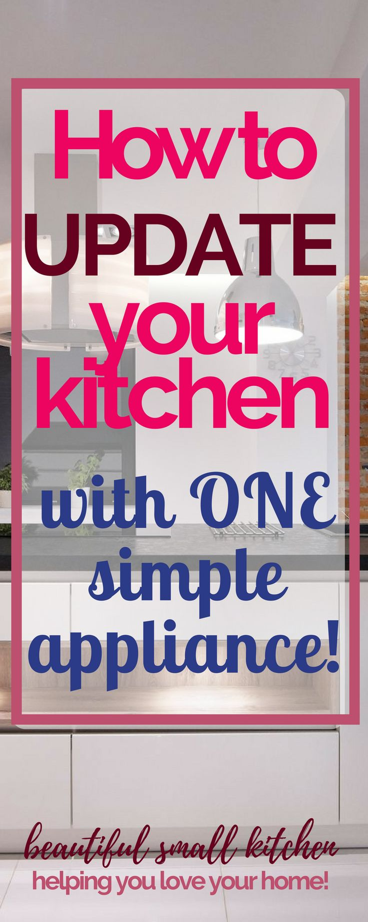 Simple easy kitchen makeover! Does your kitchen need an update? Changing this one appliance will make all the difference. And it's so simple to do and won't break the bank - take a look at the different options. #kitchenremodel #kitchen #kitchenideas #retro