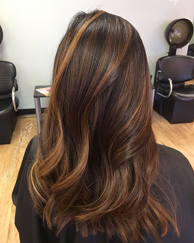 Caramel highlights for black hair types #samcheevs #modernsalon #stylistshopconnect #balayage #blackhair #paulmitchell #xgthecolor #behindthechair #bestofboston #bestofbalayage #maneaddicts #salontoday #newandnow #hef #cambridge #boston #newengland #eastcoast #somerville #lowell #burlington #arlington #saugus #medford #methuen #woburn #chelmsford #billerica #stylistshopconnect
