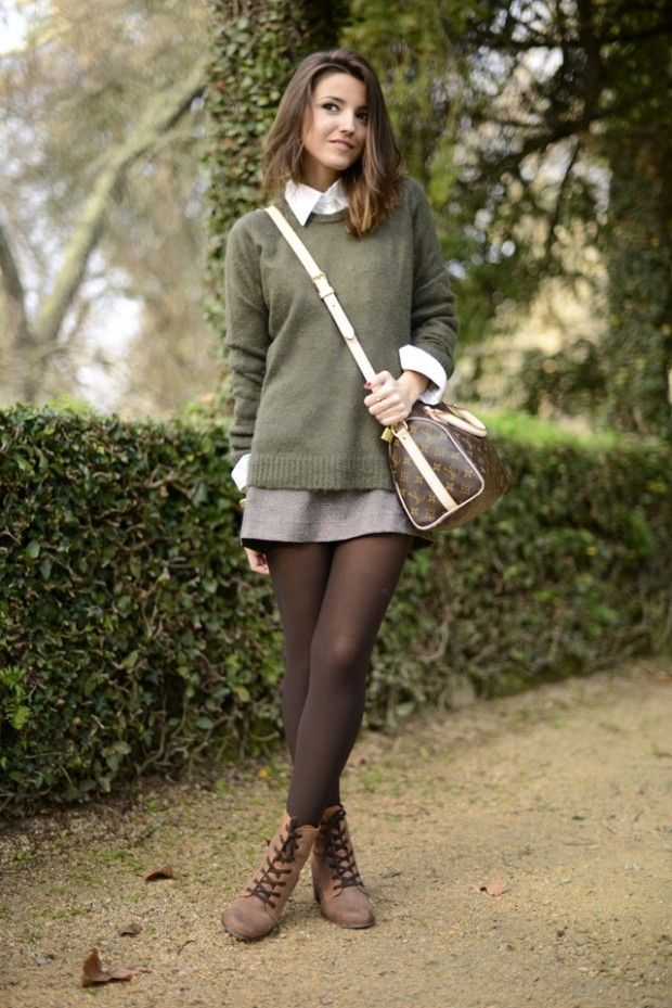 18 Lovely Woman's Outfits with Tights – #lovely #o…