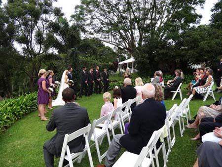 A wedding at home.
