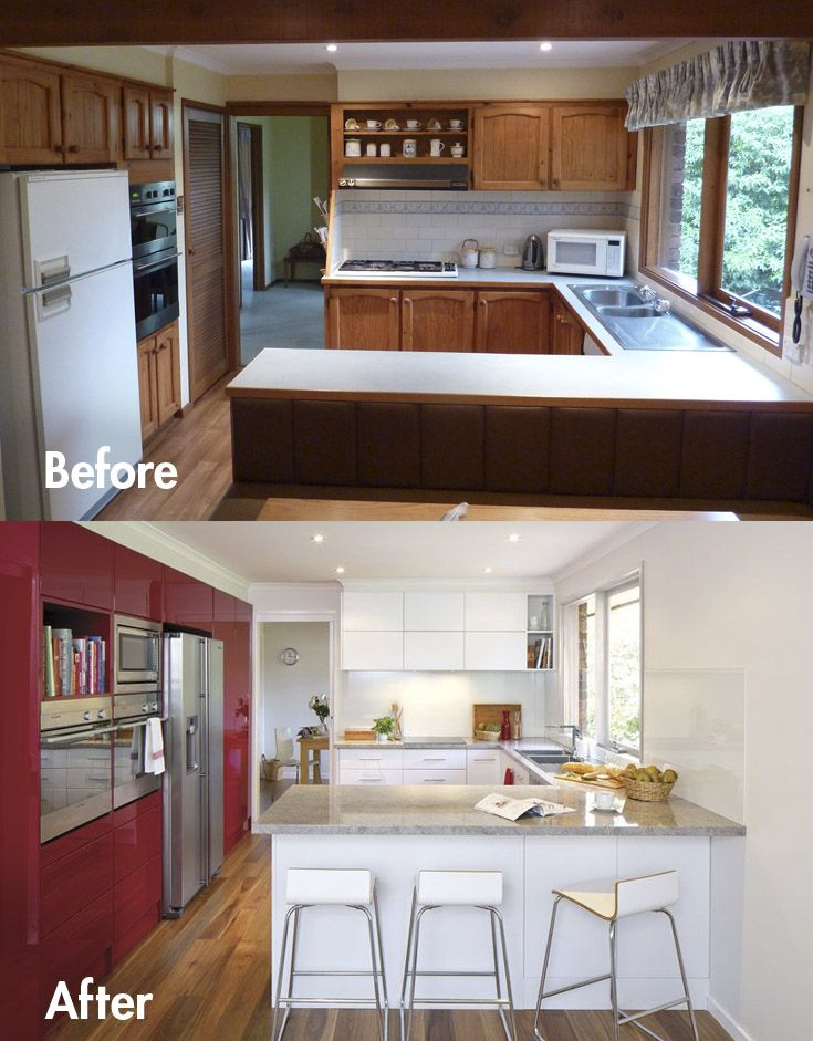 Fabulous Before u After Transform your kitchen space with colour The layout is almost the