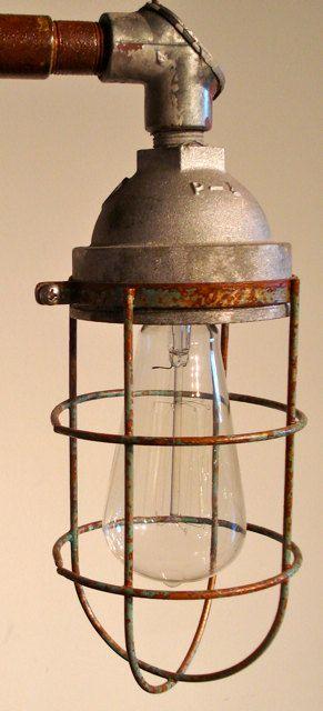 Reclaimed Railroad Tie Industrial Lamp