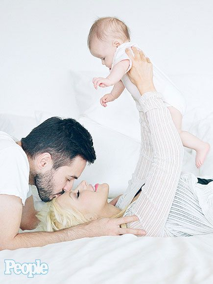 """The Cutest Photos from Christina Aguilera's PEOPLE Shoot   FAMILY BONDS   """"Her smile lights up a room and I know it melts mama and daddy's hearts,"""" says Aguilera, who is set to wed film producer Matt Rutler."""