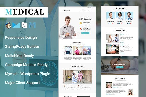 Medical Responsive Email Template Responsive Email Template