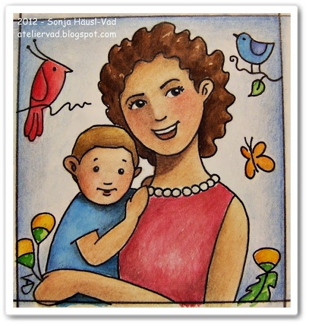 motherhood, mother´s day, child, mother, watercolor, illustration