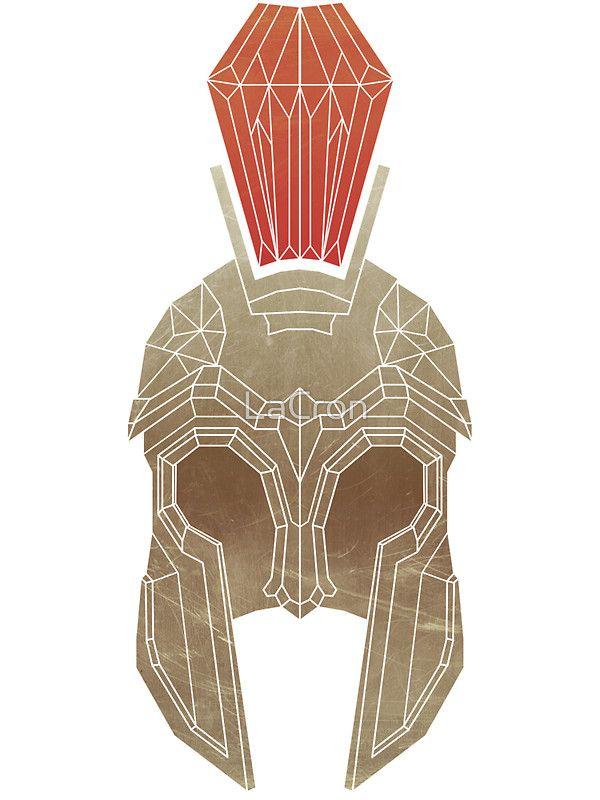 Geometric trojan helmet by lacron